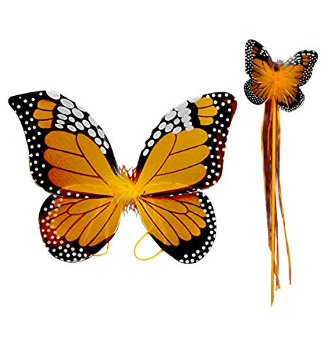 Monarch Butterfly Wing & Wand Set (More Colors...) Select Color: Turquoise (Orange)