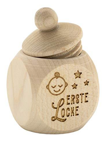 Spruchreif PREMIUM QUALITÄT 100% EMOTIONAL · Milchzahndose aus Holz mit Schraubdeckel und Gravur · Kinder Holzdose für erste Locke zur Aufbewahrung · Geschenke zur Geburt · Baby Geschenke