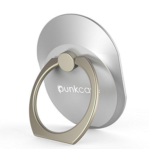 PunkCase S Ring Universal Handy Halter Auto montieren Ständer für Smartphones Phablets und Tabletten sicher bequem betreiben Ihr iPhone oder Android-Gerät mit Einer Hand Silber