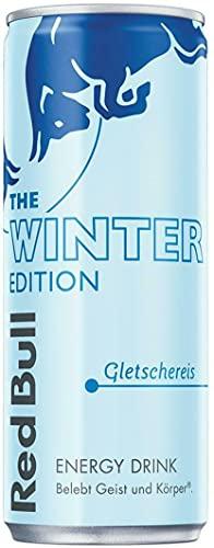 Red Bull Energy Drink Gletschereis OHNE Pfand Dosen Getränke, Winter Edition 24er Palette, 250 g