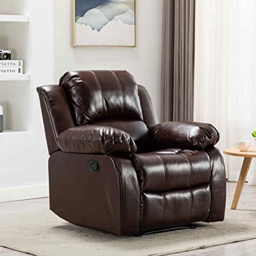 SKINU Manual Recliner Chair Lazy Boy Sofa, Brown