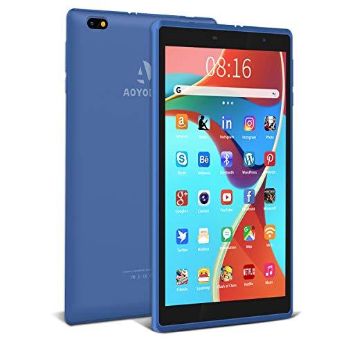 Tablet 8 pollici Android 10.0, 3 GB + 32 GB, Espanso 128GB, con Processore Quad-Core- Certificato Google GSM|5000 mAh| IPS 1280 * 800|Fotocamera da 2 MP + 5 MP| WiFi (Blu)