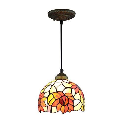 AI LI WEI 8 Pulgadas Shade Tiffany lámpara de Girasol for el Dormitorio de la lámpara de Techo Pasillo