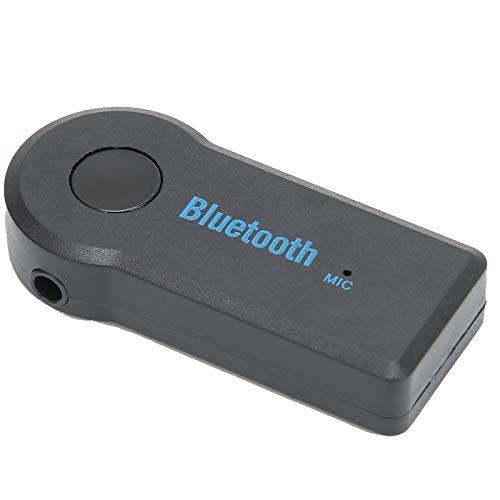Adaptador Bluetooth para automóvil, Receptor Bluetooth portátil para automóvil, Receptor de música Mini Adaptador de Audio inalámbrico 3.5MM Aux para teléfono, Operación Simple.