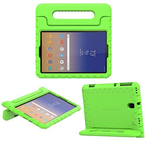 MoKo Funda para Samsung Galaxy Tab S4 10.5', Portátil Cubierta Ligera Kids Protector Parachoque con Manija y Stylus Pencil Soporte para Galaxy Tab S4 10.5' (SM-T830/SM-T835) 2018 - Verde
