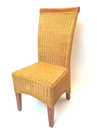 Sessel/Stuhl Rattanstuhl aus Peddigrohr und Holz, Modell Amsterdam