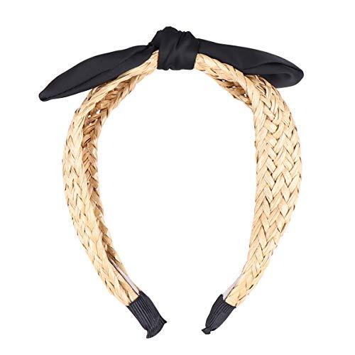 Beaupretty Twisted Knoop Hoofdband Kruis Knoop Haar Hoepels Brede Harde Haarbanden Headwrap Haarband Moeders Dag Cadeau Voor Vrouwen Meisjes (Zwart)
