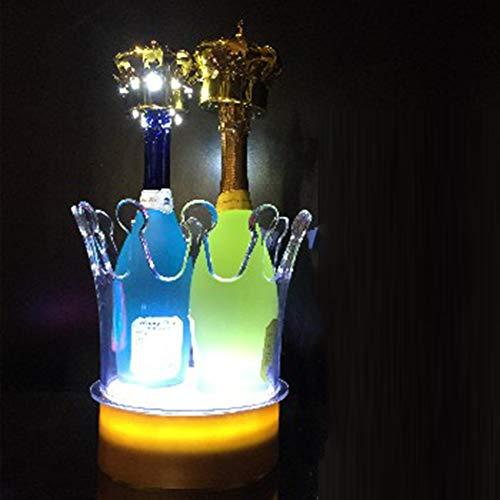 Kronenform Acryl Eiskübel Weinkühler Wechselnde Farben Champagner Rotwein Getränk Bier Ladeparty Home Bar Picknick Hochzeitsgeschenk,Small