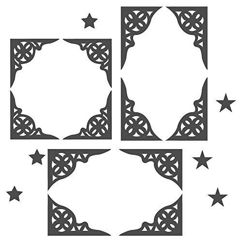 dekodino Wandtattoo Orientalischer Eck-Stuck Wohnzimmer Wandaufkleber Wandsticker