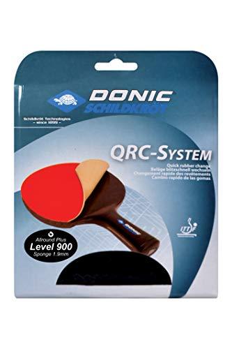 Donic-Schildkröt Tischtennis Ersatzbelag QRC Level 900, für blitzschnellen Belagwechsel, 1,9 mm Schwamm, Champion - ITTF Belag, 752575