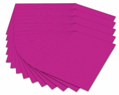 folia 614/50 23 - Fotokarton DIN A4, 300 g/qm, 50 Blatt, pink - zum Basteln und kreativen Gestalten von Karten, Fensterbildern und für Scrapbooking