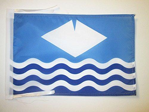 AZ FLAG Flagge GRAFSCHAFT ISLE of Wight 45x30cm mit Kordel - ISLE of Wight Fahne 30 x 45 cm - flaggen Top Qualität