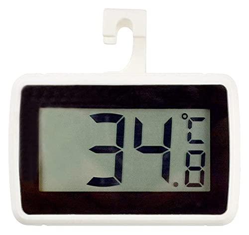 HSJ Refrigerador para el hogar Termómetro Impermeable con Gancho de imán Supermercado Congelador Congelador Froster Alarma Termómetro Temperatura (Color : Black)