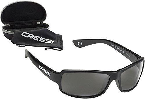 Cressi Ninja Gafas de Sol, Unisex Adulto, Negro Brillante/Lentes Gris Oscuro, Ultra Flex Talla única