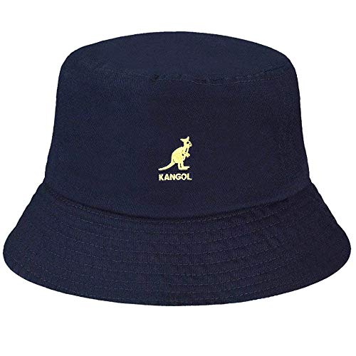 Kangol Washed Bucket Cappello alla Pescatora, Blue (Navy), Large Unisex-Adulto