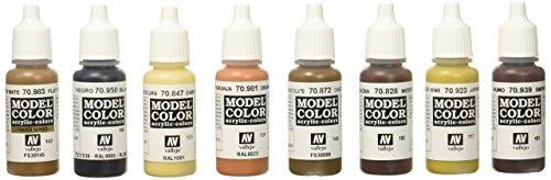Vallejo VJ70182 70182 Farbset, Holz & Leder, 8x17 ml