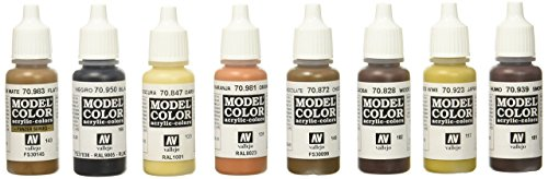 Vallejo Wood and Leather Paint Set Paint Set