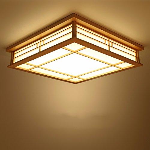 GQLB Japanische Deckenleuchte led Massivholz Lampen tatami Licht Lampen japanische Wohnzimmer Schlafzimmer Balkon Protokolle licht Koreanischen 350 * 350 * 100 MM, warmes Licht