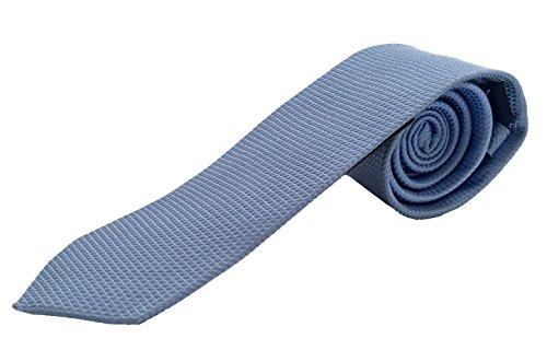 Pietro Baldini 100% Seiden Krawatte für Herren mit kleinem Muster - Elegante handgefertigte Seidenkrawatte aus gewebter Seide - Business oder Hochzeitskrawatte (hellblau)