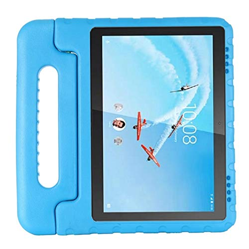 RZL PAD & TAB cases For Lenovo Tab E10 TB-X104F, Kids Shockproof EVA Full Body Handle Stand Cover For Lenovo Tab E10 TB-X104F 10.1 Inch (Color : Blue)
