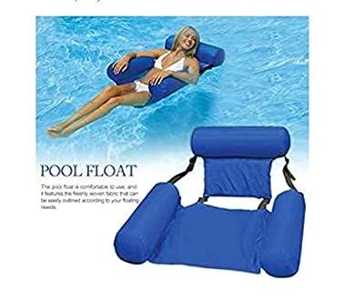 Purelemon Water Hammock, Foldable Multi-Purpose Pool U-Seat Hammock with Headrest, Float Hammock Inflatable Rafts Floating Chair Pool Float for Adults and Kids