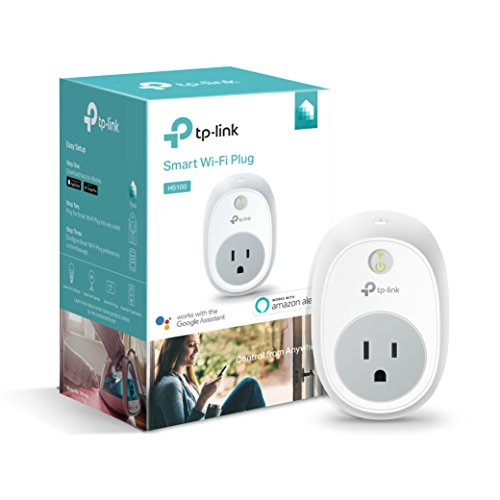 Kasa Smart Plug by TP-Link, Smart Home WiFi Outlet Works with Alexa, Echo, Google Home & IFTTT, No Hub Required, Remote Control, 15 Amp, UL Certified, 1-Pack (HS100)