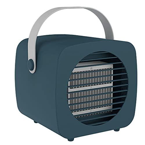 YGTMV Mini Aire Acondicionado,Climatizador Portatil Frio 3 En 1 Refrigerado por Agua 3 Velocidades Ventilador Aire Frio Enfriador De Aire para El Hogar Y La Oficina,Verde