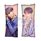 Cosplay-FTW Kpop-FTW BTS Map of The Soul: Persona Suga Body Pillow Style 2 Cover Peach Skin Cotton Polyester Blend 40cm x 100cm (Set of 1, CASE ONLY)