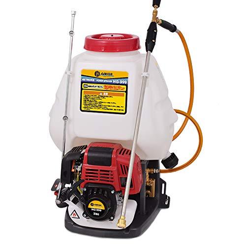HAIGE 4スト 背負動噴 20L 高圧タイプ エンジン式 除草剤 肥料 農業 畑仕事 家庭菜園 HG-999