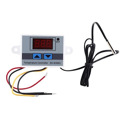 BWLZSP Interruptor de Controlador de Temperatura, AC220V Interruptor de Controlador de Temperatura de Control de termostato Digital de Alta precisión con sonda, Control de termostato Digital