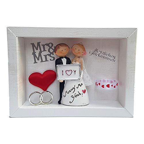 Der-kleine-Dekoladen Geldgeschenk Verpackung Hochzeit Geschenk Geld verschenken