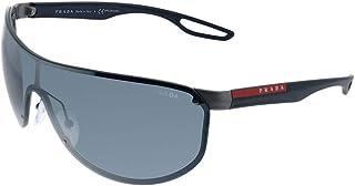 Prada - LINEA ROSSA 0PS 61US Gafas de Sol, Gunmetal Rubber, 40 para Hombre