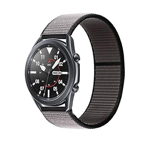 WSGGFA 20 22mm Watch Band for Gear S3 Frontier Strap Galaxy Watch 3 45mm 41mm 46 Active 2 44mm 40mm Nylon para Huawei Watch GT2E / 2 Strap 42 (Band Color : Anchor Gray 44, Band Width : 22mm)