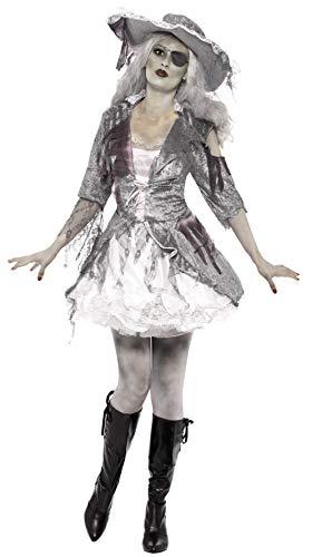 Smiffys Ghost Ship Treasure Costume Disfraz de pirata de barco fantasma, color gris, extra-small (24362XS)