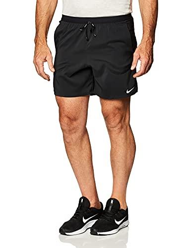 NIKE M NK Flex Stride Short 7IN BF Shorts, Black/Reflective silv, S Mens