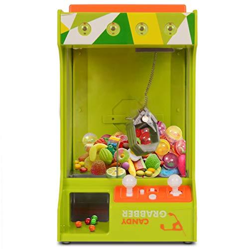 GOPLUS Spielautomat Candy Grabber Süßigkeitenautomat Süßigkeiten Greifer mit USB-Kabel Grün (Grün)