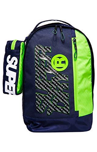 Superdry Herren Zac Freshman Back Pack Rucksack, Blu (Navy/Green), 35x41x11 cm