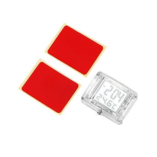 SUNJULY Auto-Armaturenbrett-Uhr, 2-in-1, Digital-Uhr, Thermometer mit LCD-Display, Auto-Dekoration, Innenzubehör