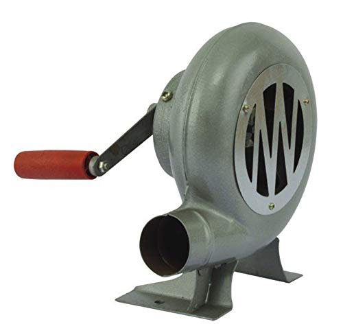 Fantastic Deal! Manual Blower, BBQ Fan Top Grill Hair Dryer, Metal Forged Blower Manual Bellows,80w