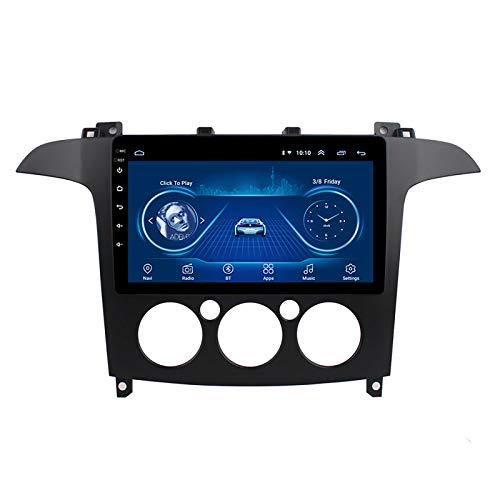 DSAK Coche GPS Navigation Car Multimedia Player Es Adecuado para Ford S-MAX 2007-2008 Imagen De Inversión Android Android DVD Navigator (Manual Air Conditioner)