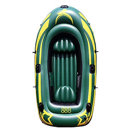 Yocalo Inflatable Boat Seriesraft Inflatable Kayak Fishing Boat Kayak23 Person Boat with Aluminum Oars Cushion RopeRepair Patch and High Output Hand Pump