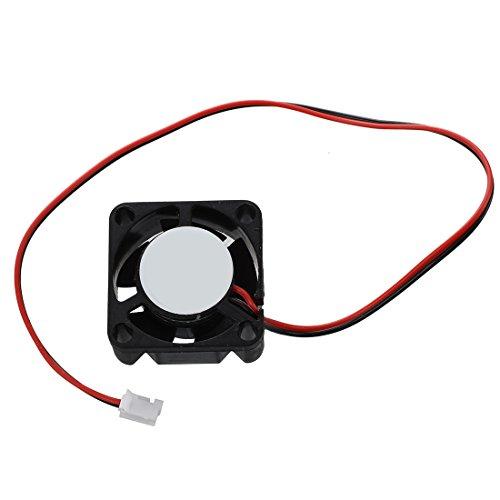OVBBESS Ventilador de refrigeración de plástico negro de 25 mm x 10 mm, 2 pines, 12 V, 0,05 A