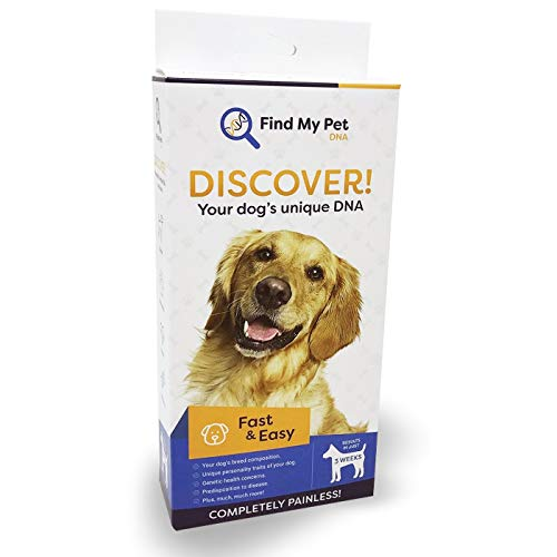 Find My Pet DNA Dog DNA 4.0 Enhance Test - Dog Breed Test kit, DNA Test for Dogs, k9 DNA Test, Your Dogs DNA Matters - 1 DNA Kit for Dogs