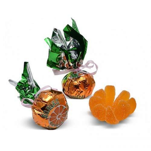 Orange Flavored Marmalade Fruit Jell Slices Candies 5 Pieces Мармеладные дольки Mандаринка 'Конфетный двор'