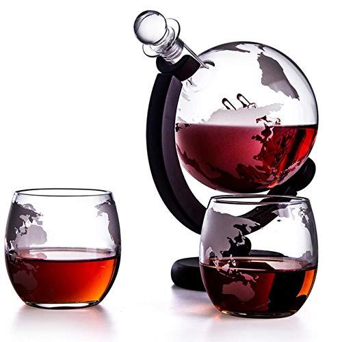 Juego de 3 botellas de vino NLT de 900 ml, 300 ml, para whisky, vino tinto y vodka, 3 piezas