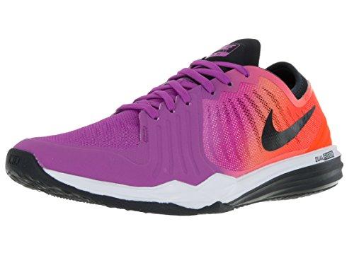 Nike W Dual Fusion TR 4 Print, Scarpe da Ginnastica Donna, Blu/Giallo Fluo/Nero/Cremisi/Rosa (Azul Hypr VLT Blk Ttl Crmsn Fr Pnk), 42 EU