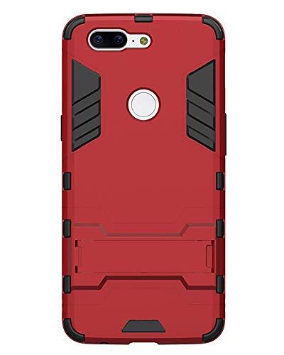 THRLY OnePlus 5T Funda, Ultra Slim/Thin Heavy Duty Resistente a Golpes Funda Bumper con Kickstand Armor Defender - Antideslizante Amortiguador Absorción Funda Protectora para Oneplus 5T