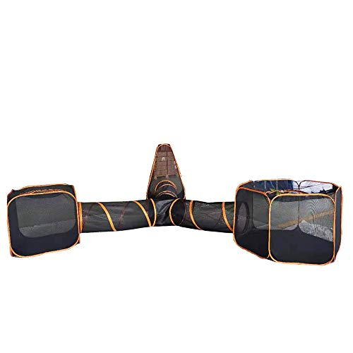 HI SUYI Portable Cat Playpen Outdoor Enclosures -4 in 1 Folding Play Tent Tunnel Cube Compound Pet...