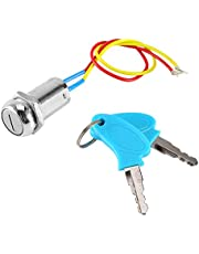 Interruptor de Encendido Universal de 2 Cables con Llaves, Impermeable, Interruptor de Encendido para Patin Electrico, ATV, Scooter
