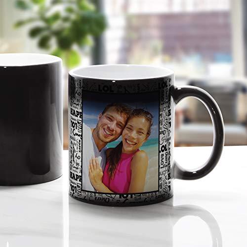 11oz Magic Mug Color Changing Heat Activation Cup (Black)